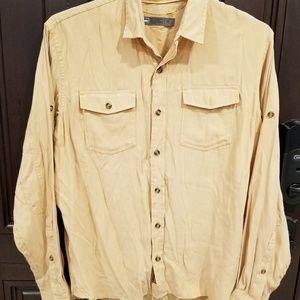 REI Long Sleeve Button Front Rayon Poly Shirt sz M